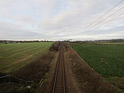 -2018-12-30 Bittern Line viewed from the Footpath to Northrepps from Crossdale Street (4).JPG