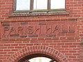 -2019-02-09 Name Plaque, Cromer Parish Hall, Church Street, Cromer.JPG