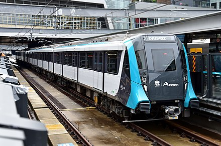 The Sydney Metro is the first fully automated rail line in Australasia 0402 Chatswood, 2019 (01).jpg