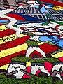 062 Fabra i Coats (Barcelona), mostra Som Cultura Popular, catifa de flors a l'esplanada.jpg