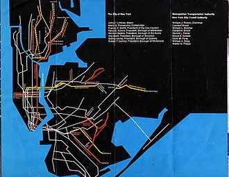 Proposed expansion of the New York City Subway - 1969 plan
