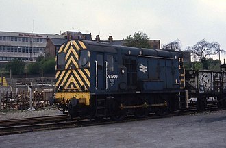 British Rail Class 08 - 08509 in Rail Blue livery at Chesterfield Goods Yard