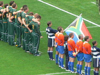 Jean de Villiers - The Springboks before their game against New Zealand
