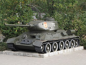 Kharkiv Morozov Machine Building Design Bureau - Legendary T-34-85 tank on display