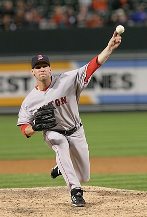 Craig Breslow - Breslow pitching for the Red Sox in 2006.