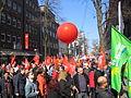1. Mai 2013 in Hannover. Gute Arbeit. Sichere Rente. Soziales Europa. Umzug vom Freizeitheim Linden zum Klagesmarkt. Menschen und Aktivitäten (077).jpg