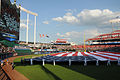 120710-N-MZ294-310 a giant American flag before the 2012 major league baseball All-Star Game.jpg