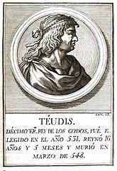 Retrato de Teudis, rey visigodo..