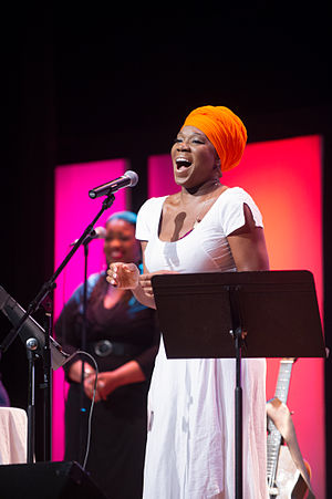 India Arie - India Arie performing at Texas A&M University–Commerce in April 2014