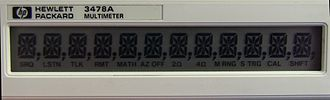 Fourteen-segment display - 14 segment LCD as used on the Hewlett-Packard HP3478A Multimeter