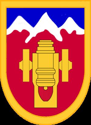 169th Field Artillery Brigade - 169th Field Artillery Brigade shoulder sleeve insignia