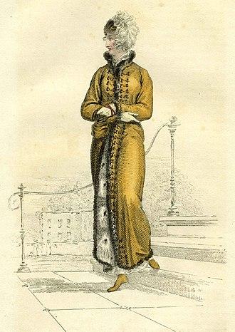 Pelisse - Image: 1811 Nov Ackermann fur pelisse uncropped