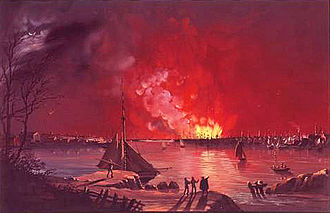 Great Fire of New York - As seen from Williamsburg