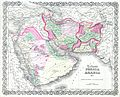 1855 Colton map of Persia ^ Arabia ( Saudi Arabia, Iraq, Israel and Afghanistan ) - Geographicus - PersiaArabia-c-55.jpg