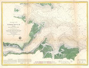 John J. Almy - A Coast Survey chart of the mouth of the York River. Triangulation by E. Blunt, J. Farley and J. P. Roy. Topography by John Seib. Hydrography by a party under the command of J. J. Almy and R. D. Minor. Compiled under the direction of A. D. Bache, Superintendent.