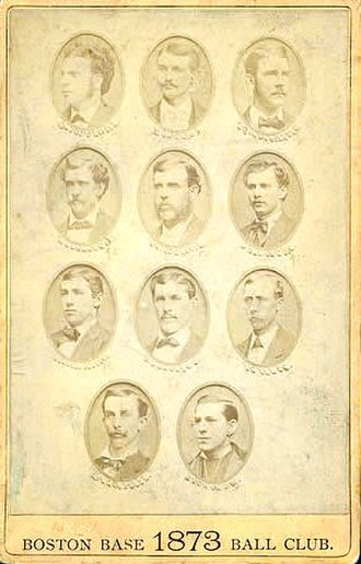 Atlanta Braves - 1873 Boston Red Stockings team picture; it finished first with a record of 43–16