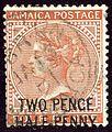 1891 TwoHalf Jamaica Mi26 SG30.jpg