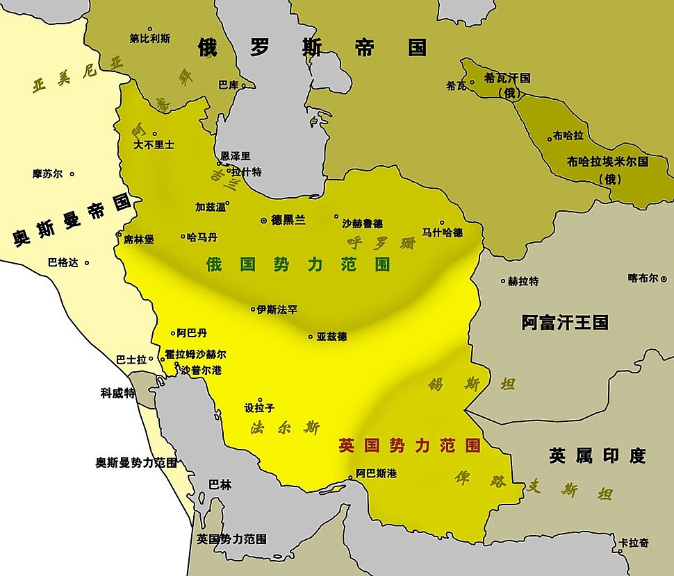 1907 Persia map