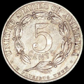 1909 reverse, CENTS under small 5