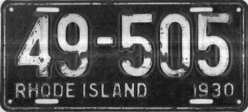 File:1930 Rhode Island license plate.jpg