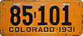 1931 Colorado license plate.JPG