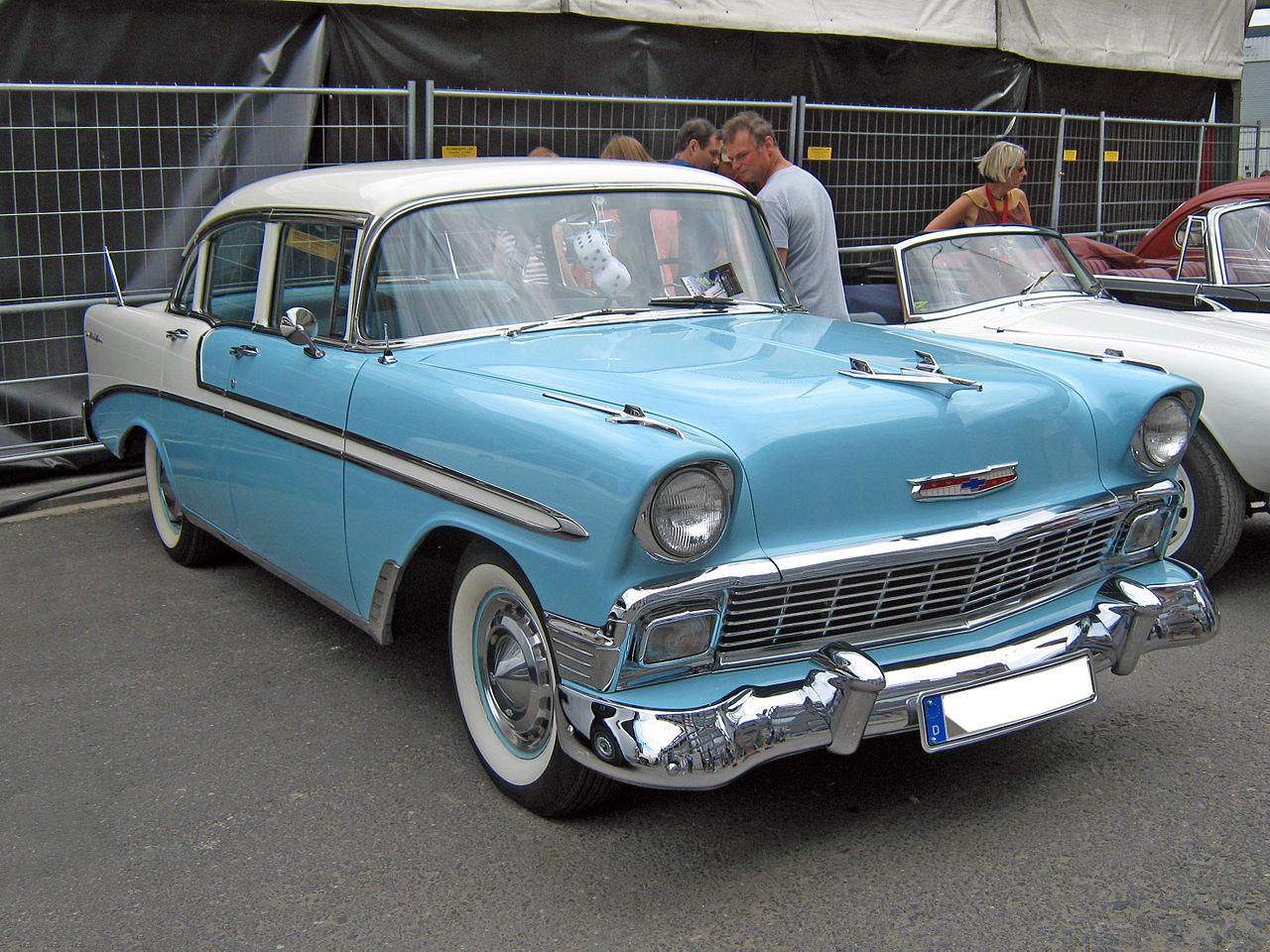 File 1956 chevrolet bel air 4 door sedan for 1956 chevy belair 4 door hardtop for sale