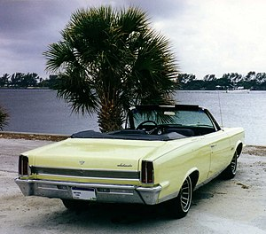 Convertible - A 1967 AMC Ambassador convertible with its fabric top folded