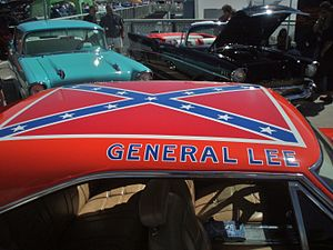General Lee (car) - The Confederate battle flag painted on the roof