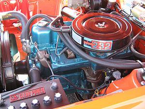AMC straight-6 engine - Engine bay of 1971 AMI Rambler Gremlin