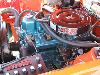 AMC straight-6 engine - Engine bay of 1971 AMI Rambler Gremlin