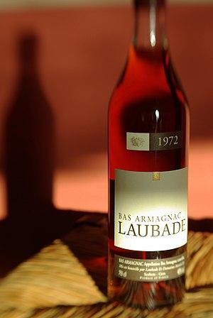 Bas-Armagnac - A 1972 bottle of Bas-Armagnac brandy.