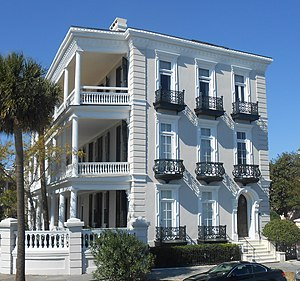 Louis DeSaussure House -  The Louis DeSaussure House, 1 East Battery, Charleston, South Carolina
