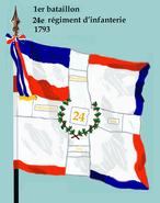 1er bataillon 24e rég inf 1793