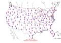 2006-02-13 Max-min Temperature Map NOAA.png