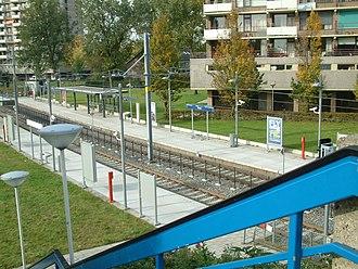Dorp RandstadRail station - Image: 2008 Station Dorp Overzicht 1