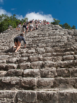 English: Ascent to Nohoch Mul group, Cobá, Mex...