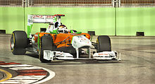 Photo d'Adrian Sutil lors du Grand Prix de Singapour 2011