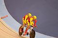 2012 Paralympics - Men's Individual B Pursuit - David Llaurado Caldero and Christian Venge.jpg