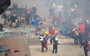 2013 Boston Marathon - Aftermath of the first blast