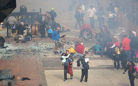 Aftermath of the first blast 2013 Boston Marathon aftermath people.jpg