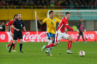 Roberto Firmino - Firmino playing against Austria in 2014