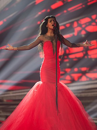 Latvia in the Eurovision Song Contest 2015 - Aminata at a dress rehearsal for the second semi-final