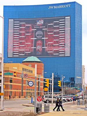 2015 NCAA Division I Men's Basketball Tournament - The 2015 bracket displayed on the JW Marriott Indianapolis