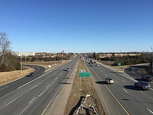 Chantilly, Virginia - View east along U.S. Route 50 in Chantilly