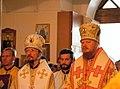 2016-07-22 23-33. Чтец Сергей Шпагин, епископ Вениамин (Тупеко), протодиакон Логвинов, епископ Иона (Черепанов).jpg