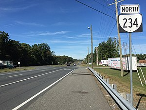 Virginia State Route 234 - View north along SR 234 in Independent Hill