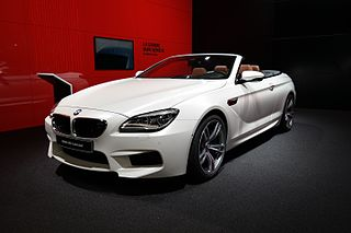 BMW M6 high-performance version of the 6-Series automobile, designed by the motorsport division of BMW
