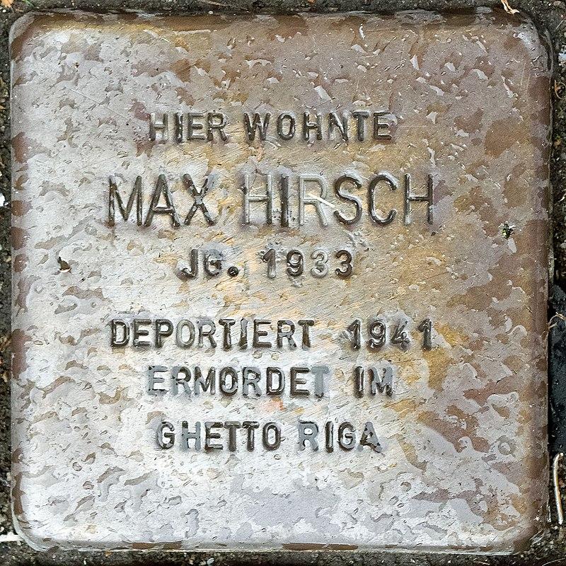 2017 10 05 Stolpersteine Duelken Hirsch Max.jpg