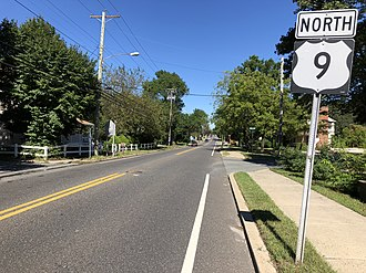 Absecon, New Jersey - U.S. Route 9 northbound in Absecon