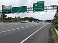 2018-10-11 12 02 25 View west along Interstate 66 at Exit 57B (U.S. Route 50 WEST, Fair Oaks, Winchester) in Fair Oaks, Fairfax County, Virginia.jpg